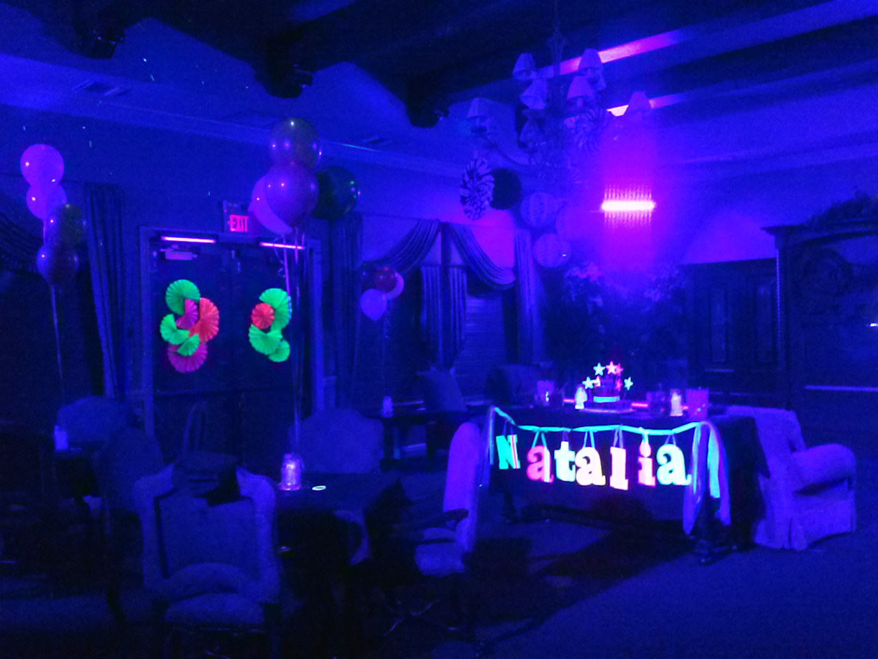 blacklight co i lighting my the impressive loved really neon it black this picture was how light in whirligigs even birthday glow lori and hi dark party m looked stuff sixteenth